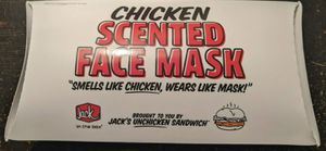 2020 Jack In The Box Chicken Sandwich Scented Logo Face Covering Mask for Sale in Denton, TX