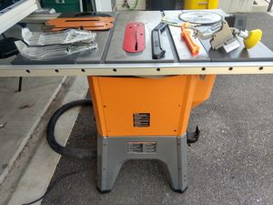 Rigid 4512 Table Saw +Accessories for Sale in Glen Burnie, MD