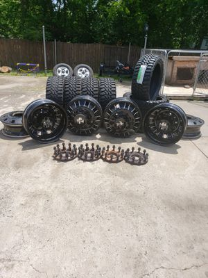 Complete Ford F350 Dually 24 inch Custom Wheel Kit for Sale in Nashville, TN