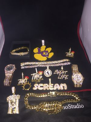 All sizes available!! 14K Gold Filled Cuban Chain and Bracelet!! We Do Custom Work!! Best Top Quality!! Contact us for more details!! for Sale in Savannah, GA