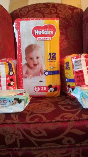 Four packs of Huggies YouTube diaper wipes for Sale in Orlando, FL