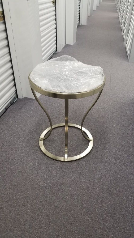 Side table, 30 tall, about 24 diameter
