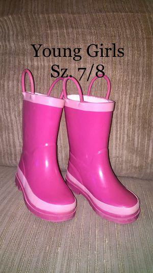 Girls Rain Boots, Sz. 7/8 for Sale in Newfield, NJ