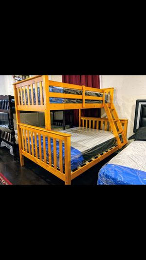 Brand new twin over full bunk bed includes orthopedic mattress on sale now for only 499$ for Sale in Queens, NY