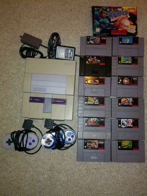 Super Nintendo SNES Console and Game Bundle. for Sale in Columbia, MD