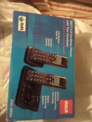 Black Cordeless 2 Handset Phone 6.0Dect Digital ByRCA for Sale in Hannibal, MO