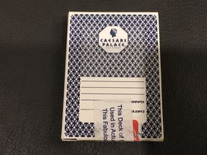 Real Las Vegas Ceasars Palace Playing Cards used in Casino. Aristocrat brand Blue for Sale in Altadena, CA