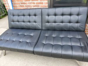 Leather futon for Sale in Queens, NY