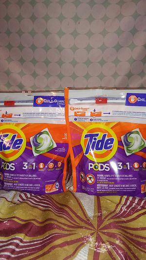 2 tidepods 16caps for Sale in Glenarden, MD