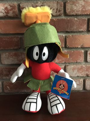 Vintage NWOT 90's Looney Tunes Marvin The Martian Stuff Plush Doll for Sale in Alameda, CA