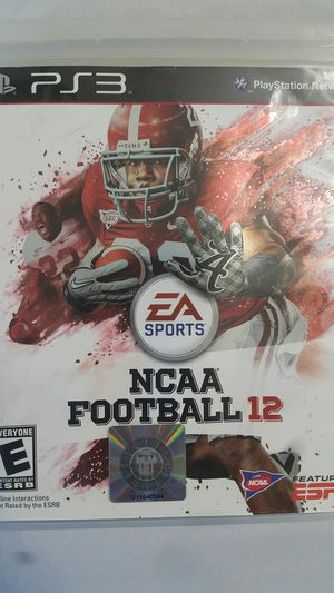 NCAA FOOTBALL 12 FOR PS3 for Sale in Miami Gardens, FL