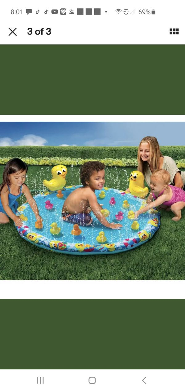 Brand new kids Duck Splash water blast pad