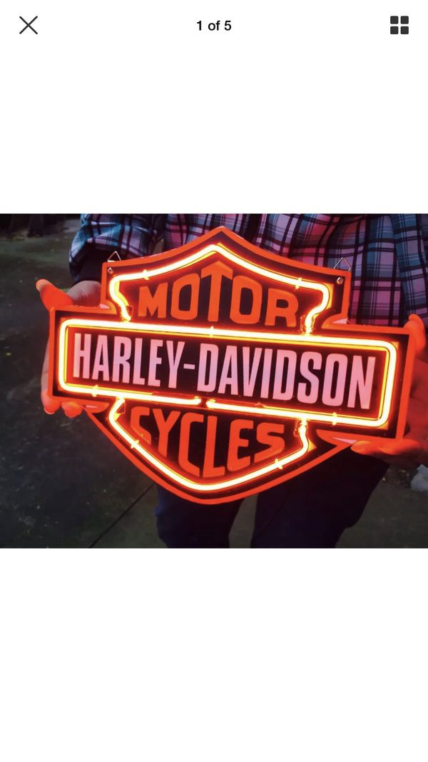 Harley Davidson Neon Sign for Sale in Spring, TX - OfferUp