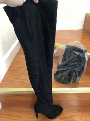 Lace thigh high boots (7) for Sale in Tampa, FL