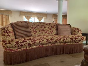 Ruby Red and Gold Couch for Sale in Walnut Creek, CA