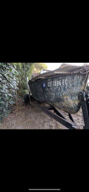 Monark 12ft aluminum boat with trailer for Sale in Martinez, CA