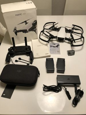 DJI MAVIC AIR w two batteries and case for Sale in Brisbane, CA