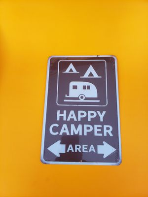 Metal HAPPY CAMPER Sign for Sale in Stow, OH