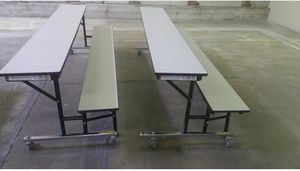 Social Distancing Restaurant Lunch 3-N-1 Bench Table - DFW FREE DELIVERY for Sale in Dallas, TX