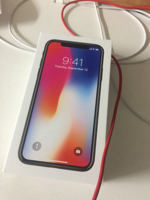 New IPhone X for T-mobile 64gb black for Sale in Miami, FL