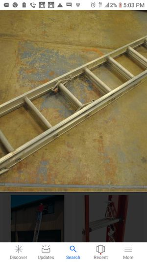 20 ft aluminum extension ladder for Sale in Somerville, MA