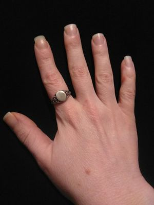 Beautiful Stamped 925 Vintage Large Size Sterling Silver Ring With Intricate Decorative Band for Sale in Gresham, OR