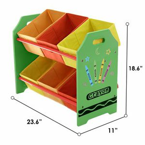 Kids crayon themed toy storage organizer for Sale in Riverside, CA