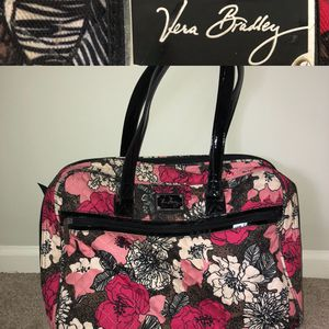 VERA BRADLEY pretty pink flower patterned quilted computer travel bag. (Great Cond. - Lot of Pics) for Sale in Centreville, VA