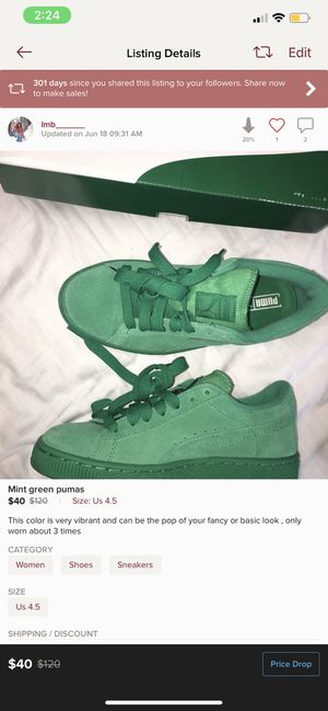 Puma green 4.5 for Sale in Fort Hunt, VA