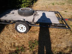 Trailer for atv. 4×10 ft a tills up for easy loading. Open for same price trades for Sale in North Plains, OR
