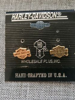 Harley Davidson Registered Gold Earrings for Sale in Ontario,  CA