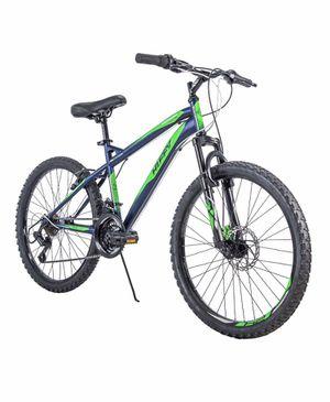 """Huffy 24"""" Nighthawk Boys' Mountain Bike, Blue/Green for Sale in Littleton, CO"""