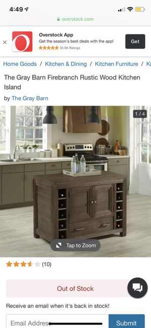 Wood kitchen island for sale! for Sale in Brooklyn, NY