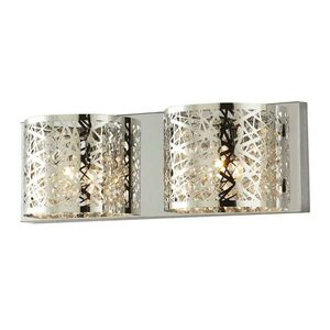 Carterton 2-Light Chrome Vanity Light with Crystal Accents for Sale in Chandler, AZ