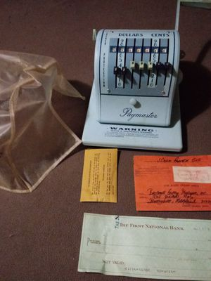 Paymaster check writer. Antique for Sale in Knoxville, TN
