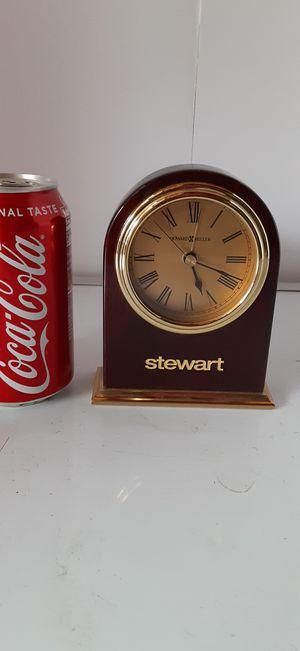 Howard Miller Stewart Dome Shape Mantle/Desktop Battery Alarm Clock in Like New Condition for Sale in Menifee, CA