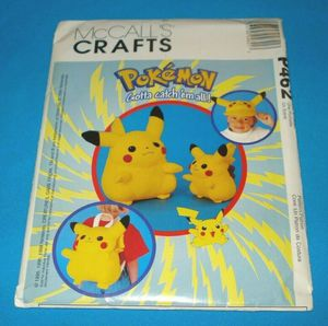 McCalls Pokemon Pikachu Accessory Pattern #P462 for Sale in Riverside, CA