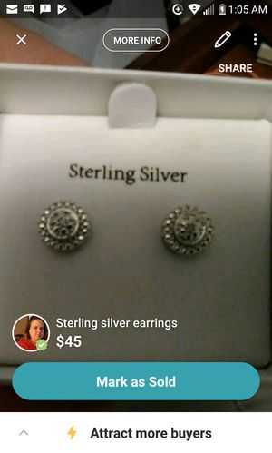 Sterling silver earrings and diamond accents for Sale in Danville, VA