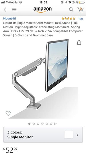 monitor arm mont for Sale in Sunnyvale, CA