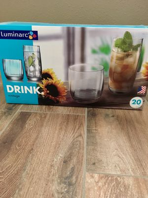 10 large and 10 small glasses for Sale in Tempe, AZ