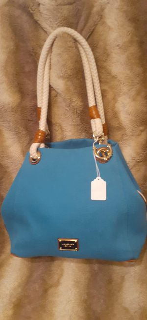New Michael Kors Marina Summer Blue Canvas Tote/Bag for Sale in Chandler, AZ