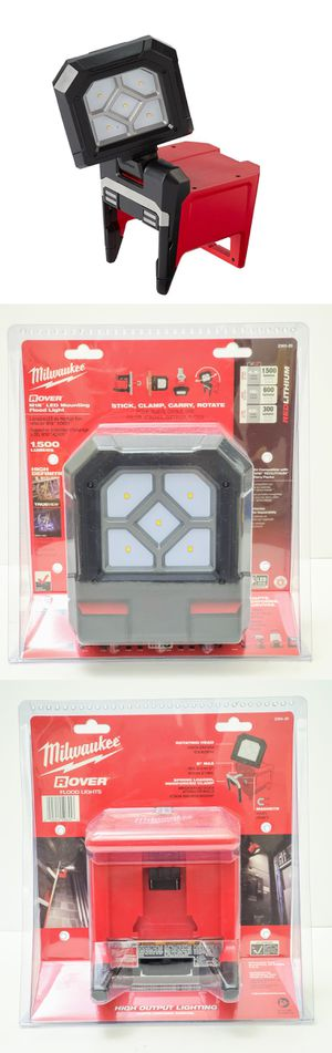 Pickup is $90 New sealed Milwaukee M18 1500 Lumens Rover LED Mounting Flood Area Light 2365-20 Task Clamp Clamping for Sale in Pasadena, CA
