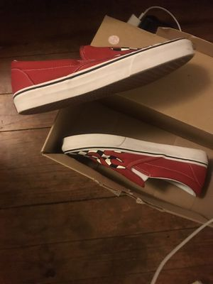 Checkered Vans W/ Red Drip for Sale in Allentown, PA
