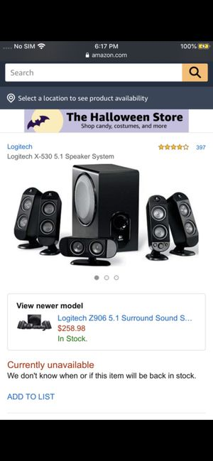 Logitech X-530 5.1 Surround Sound System for Sale in Irving, TX