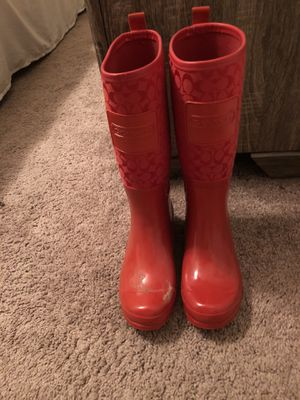 Authentic Coach Rainboots, Size 6 for Sale in Murfreesboro, TN