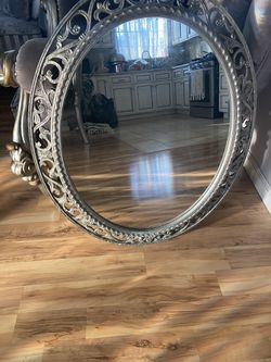 Carved Grey Silver Mirror for Sale in Los Angeles,  CA