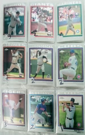Nine 2004 Topps Chrome baseball refractors 2 for Sale in LOS RNCHS ABQ, NM