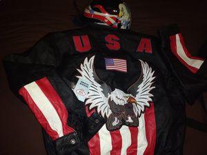 Motorcycle jacket, helmet, headband, vest, bag for Sale in Tustin, CA