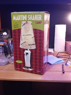 Martini Shaker Lamp With Recipe Shade Make Offer for Sale in Greenwood,  IN