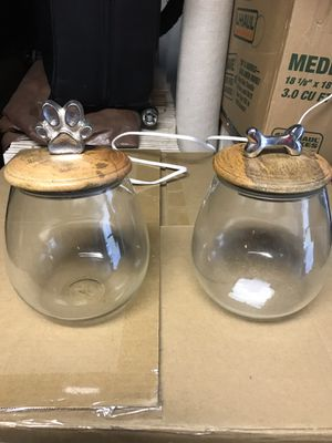 Pet treat storage glass for Sale in San Jose, CA